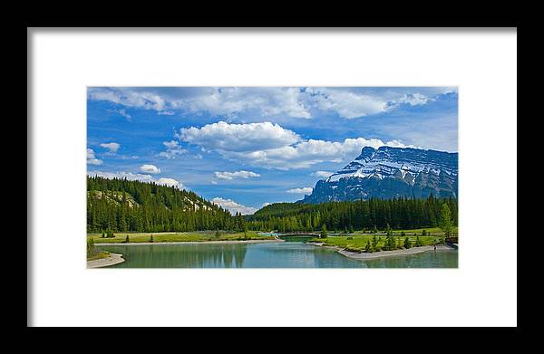 Panorama Framed Print featuring the photograph Majestic View At Cascade Ponds - Canadian Rockies by Levin Rodriguez