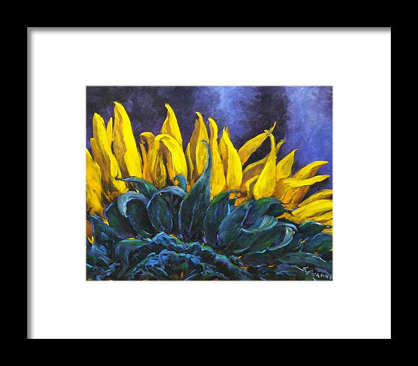 Flower Framed Print featuring the painting Majestica by Richard T Pranke