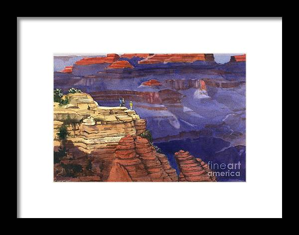 Grand Canyon Framed Print featuring the painting Majesty by Elizabeth Carr