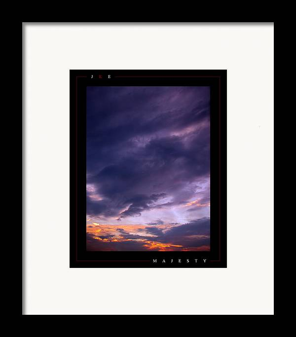 Sky Framed Print featuring the photograph Majesty by Jonathan Ellis Keys