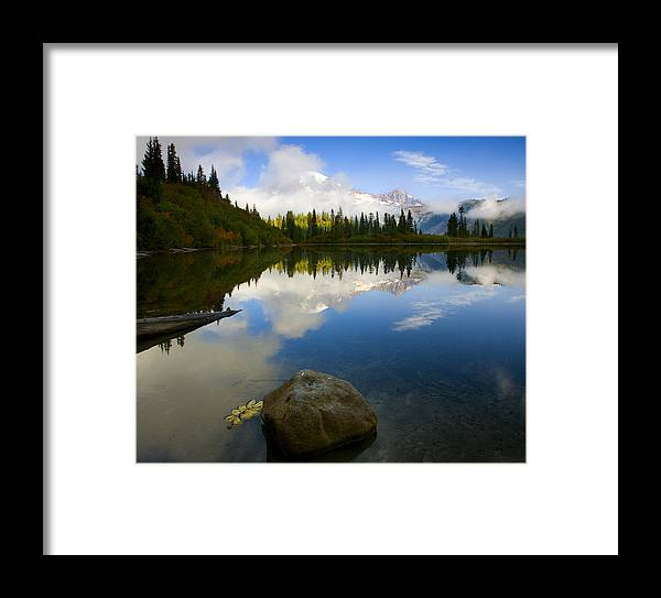 Mt. Rainier Framed Print featuring the photograph Majesty Revealed by Mike Dawson