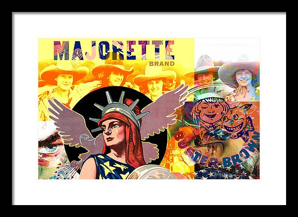 Figure Framed Print featuring the painting Majorette by Robert Anderson