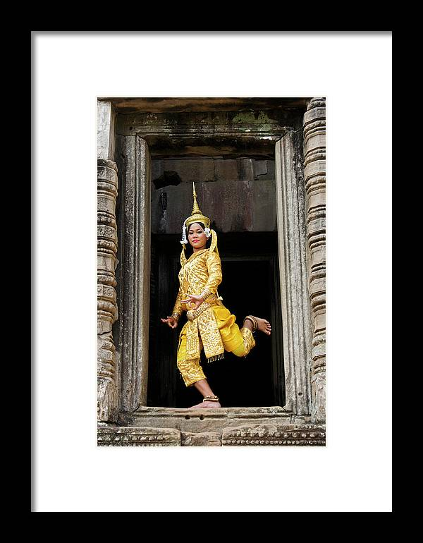 Asia Framed Print featuring the photograph Makala Dancer In Cambodia by Michele Burgess