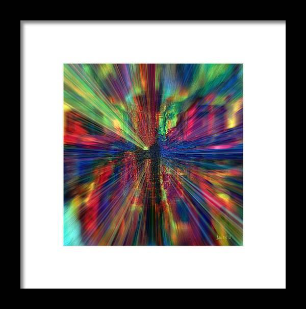 Fania Simon Framed Print featuring the mixed media Make Colors Pop by Fania Simon
