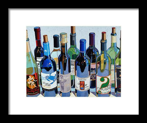 Wine Art Framed Print featuring the painting Make Mine Virginia Wine Number Three by Christopher Mize