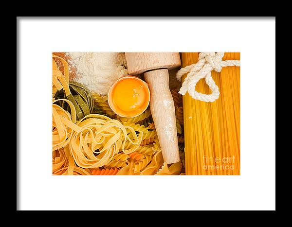 Pasta Framed Print featuring the photograph Making Pasta by Anastasy Yarmolovich
