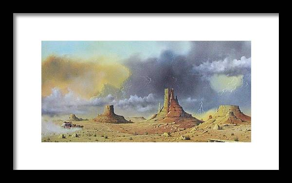 Landscape Framed Print featuring the painting Making Up Time by Don Griffiths