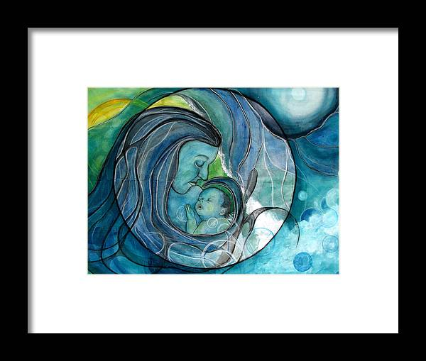 Mom Framed Print featuring the painting Makuahine by Kimberly Kirk