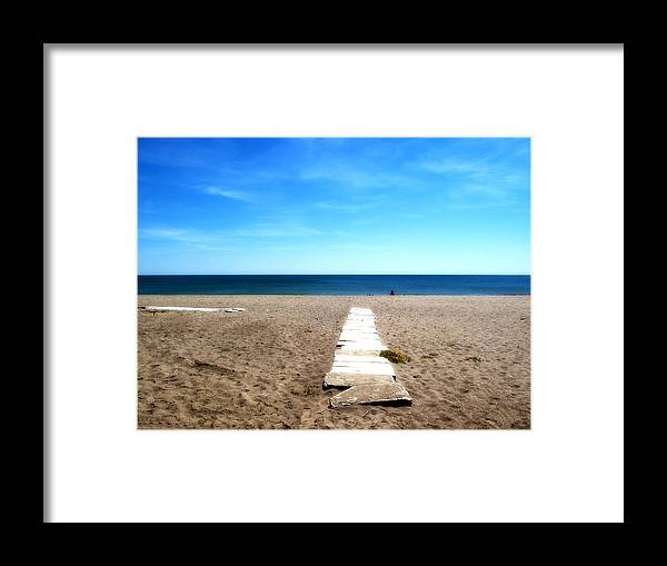 Malaga Framed Print featuring the photograph Malaga Beach by Obi Martinez