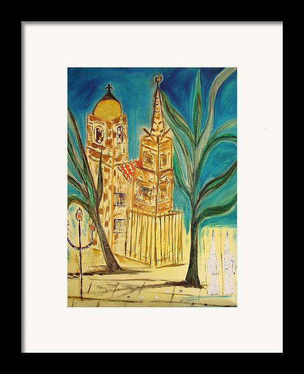 Spain Framed Print featuring the painting Malaga by Roger Cummiskey