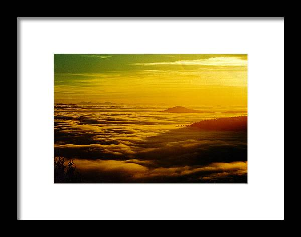 Sunrise Framed Print featuring the photograph Malahat Sunrise by Graham Vickers