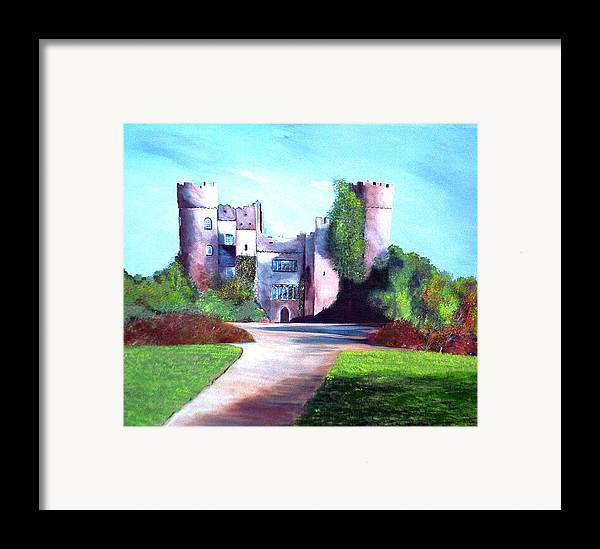 Landscape Framed Print featuring the painting Malahide Castle by Julie Lamons