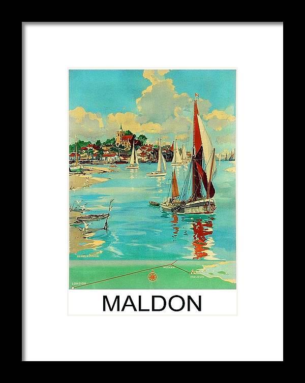 Maldon Framed Print featuring the painting Maldon, England, Sailing Boats by Long Shot