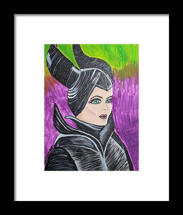 Maleficent Framed Print featuring the painting Maleficent by Suzy Marie Inman