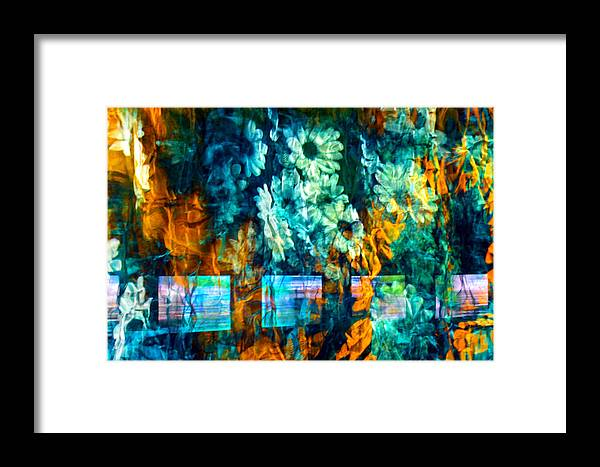 Abstract Framed Print featuring the photograph Malerische - Picturesque by Linda McRae