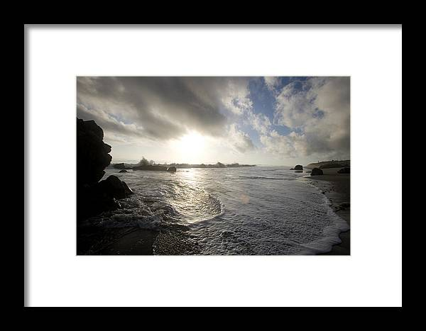Ocean Framed Print featuring the photograph Malibu by Brad Rickerby