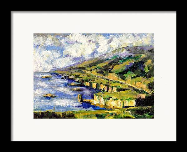 Sea Framed Print featuring the painting Malibu Looking North by Randy Sprout