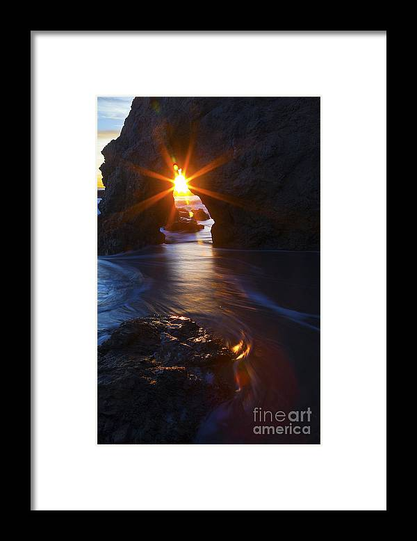 Beaches Framed Print featuring the photograph Malibu Starburst by Greg Clure
