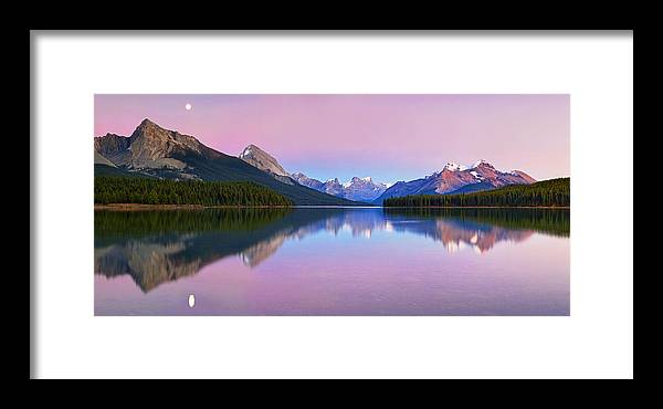 Landscape Framed Print featuring the photograph Maligne Lake by Yan Zhang