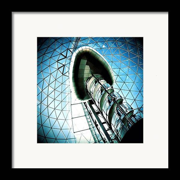 Shop Framed Print featuring the photograph Mall by Mark B