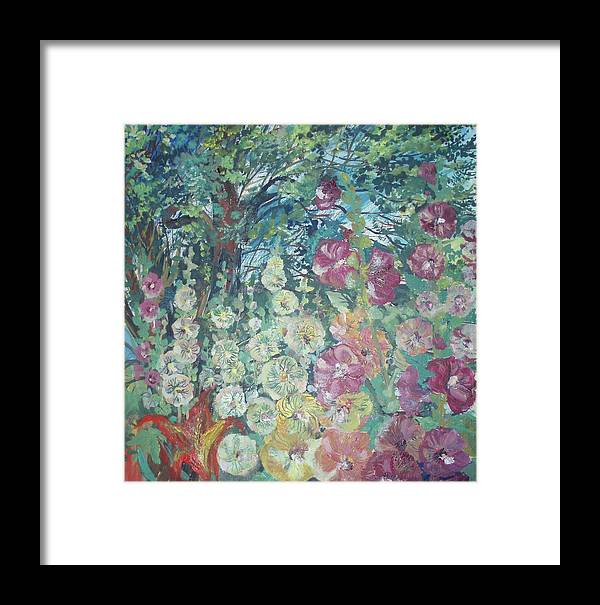 Mallow Framed Print featuring the painting Mallow by Tamara Zemlyanaya