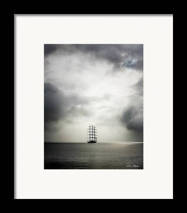 Yacht Framed Print featuring the photograph Maltese Falcon by Sabine Stetson