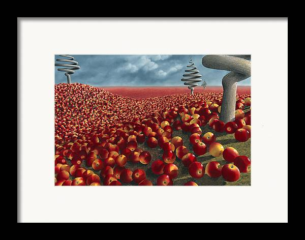 Tree Framed Print featuring the painting Malus Arvum by Patricia Van Lubeck