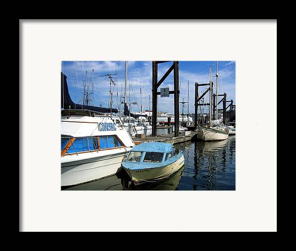 Boat Framed Print featuring the photograph Mama Boat ... Baby Boat by Bob Gardner