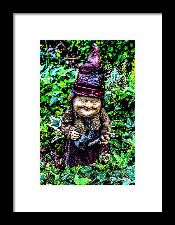Gnomes Framed Print featuring the photograph Mama Gnome by Ken Frischkorn