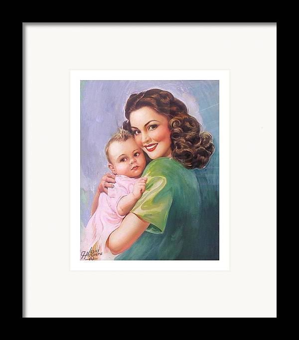 Mom Framed Print featuring the painting Mama by Jesus Helguera