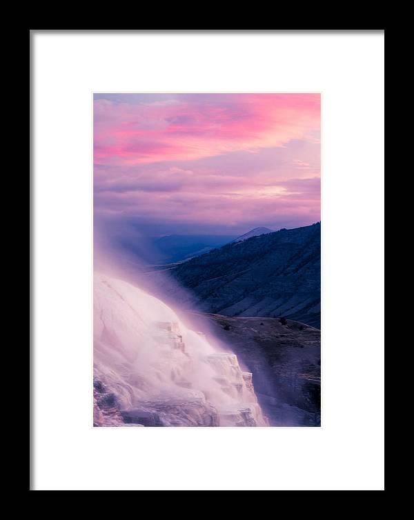 America Framed Print featuring the photograph Mammoth Hot Springs by Dale Poll