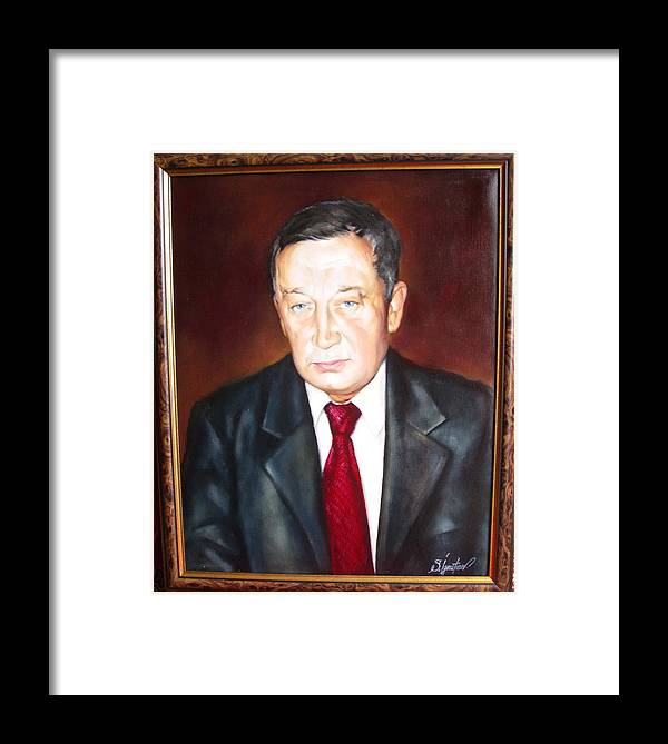 Art Framed Print featuring the painting Man 1 by Sergey Ignatenko