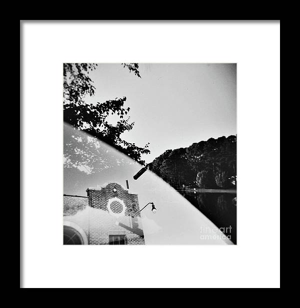 Multiple Exposure Framed Print featuring the photograph Man And Earth 1 by Lacey Renae