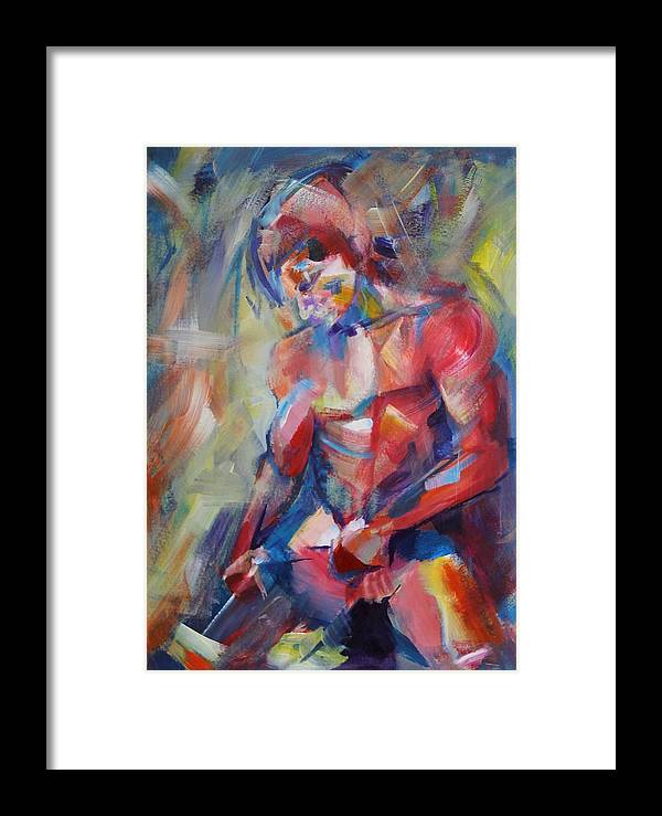 Man Framed Print featuring the painting Man Body #2 by Dima Mogilevsky