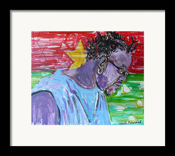 Acrylic Framed Print featuring the painting Man From Burkina Faso by Todd Peterson