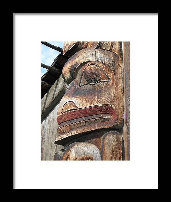 Totem Framed Print featuring the photograph Man From Misquito by Nicole Herbert