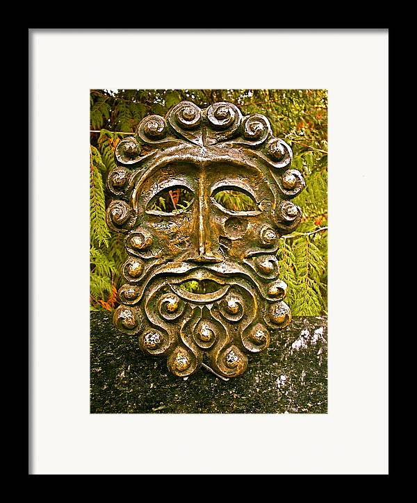Bronze Framed Print featuring the photograph Man In Bronze by Eric Singleton