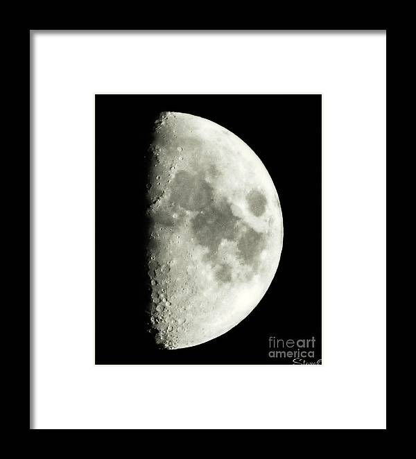 Lunar Framed Print featuring the photograph Man In The Moon by September Stone