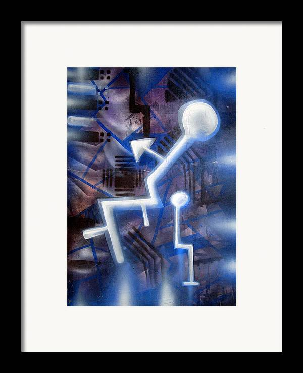 Man Framed Print featuring the painting man by Leigh Odom