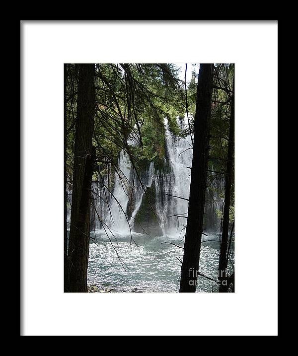Mythical Figures Framed Print featuring the photograph Man Of The Falls by Stephanie H Johnson
