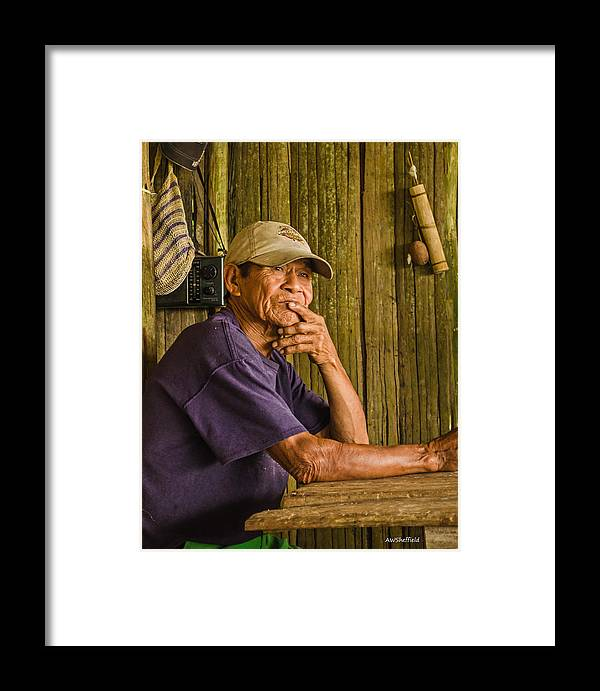 Peru Framed Print featuring the photograph Man Of The House by Allen Sheffield