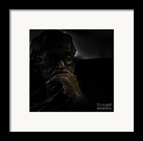 Portrait Framed Print featuring the photograph Man On Ferry by Sheila Smart Fine Art Photography
