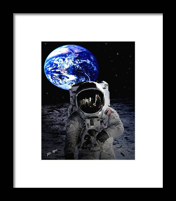 Moon Framed Print featuring the photograph Man On The Moon by Tray Mead