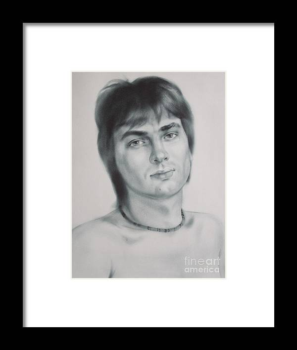 Art Framed Print featuring the drawing Man by Sergey Ignatenko