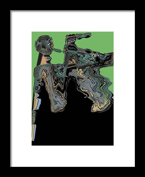 Abstract Framed Print featuring the digital art Man Woman by LeeAnn Alexander