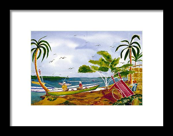 Seascape Framed Print featuring the painting Manana by Buster Dight