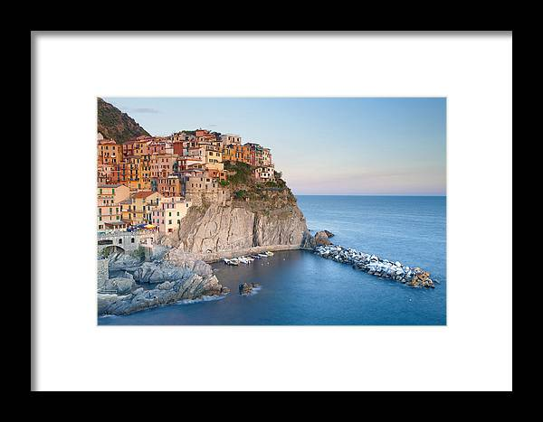 Abstract Framed Print featuring the photograph Manarola by Andre Goncalves
