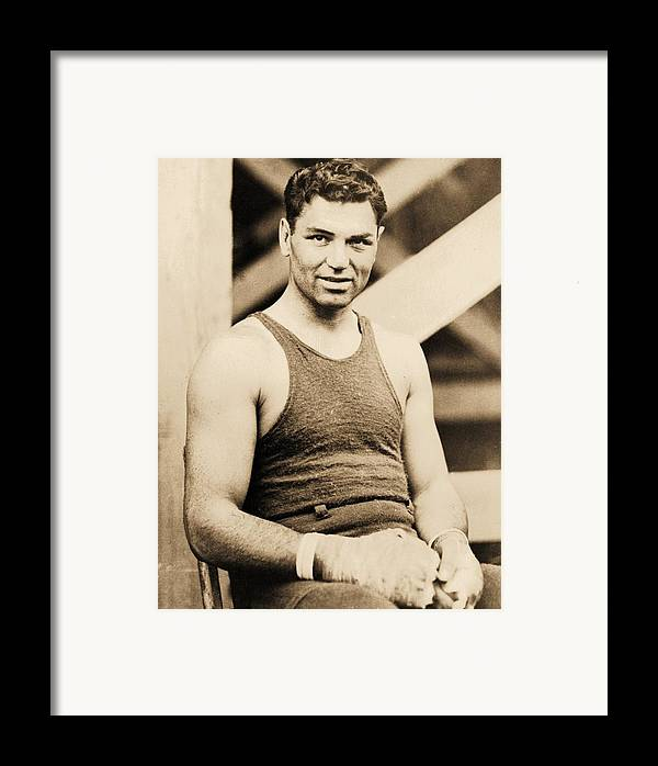 Reproduction Framed Print featuring the photograph Manassa Mauler by Pg Reproductions