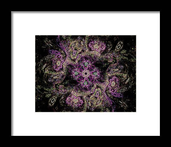 Mary Raven Framed Print featuring the digital art Mandala Meditation by Mary Raven