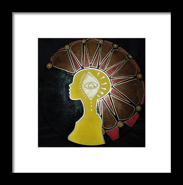 Mohawk Framed Print featuring the painting Mandala Mohawk by Kayanna South
